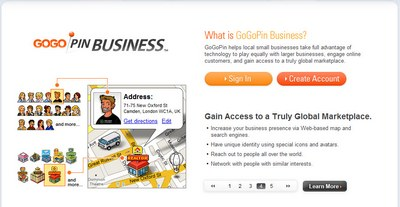 create a business website gogopin