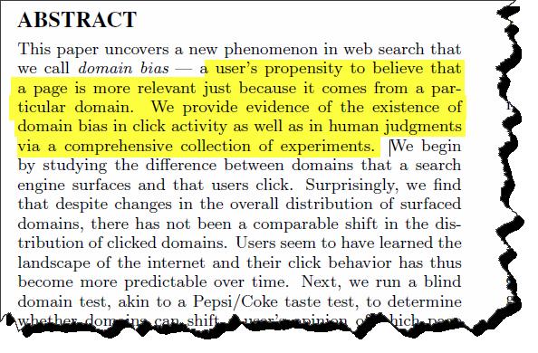 domain bias in web search2