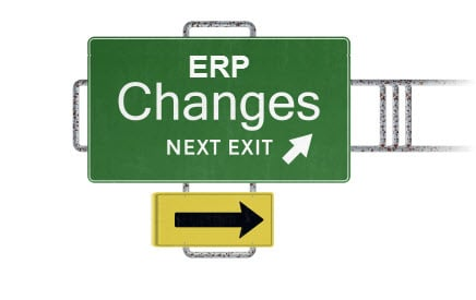 erp software system changes