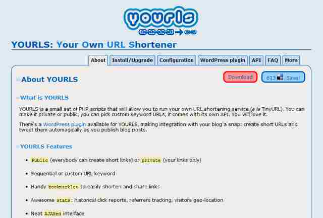 free software for business yourls