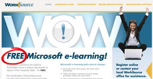 free microsoft software training