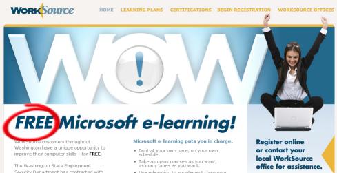 free microsoft software training