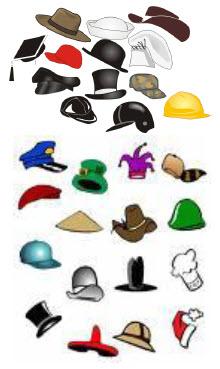 hats of entrepreneurs