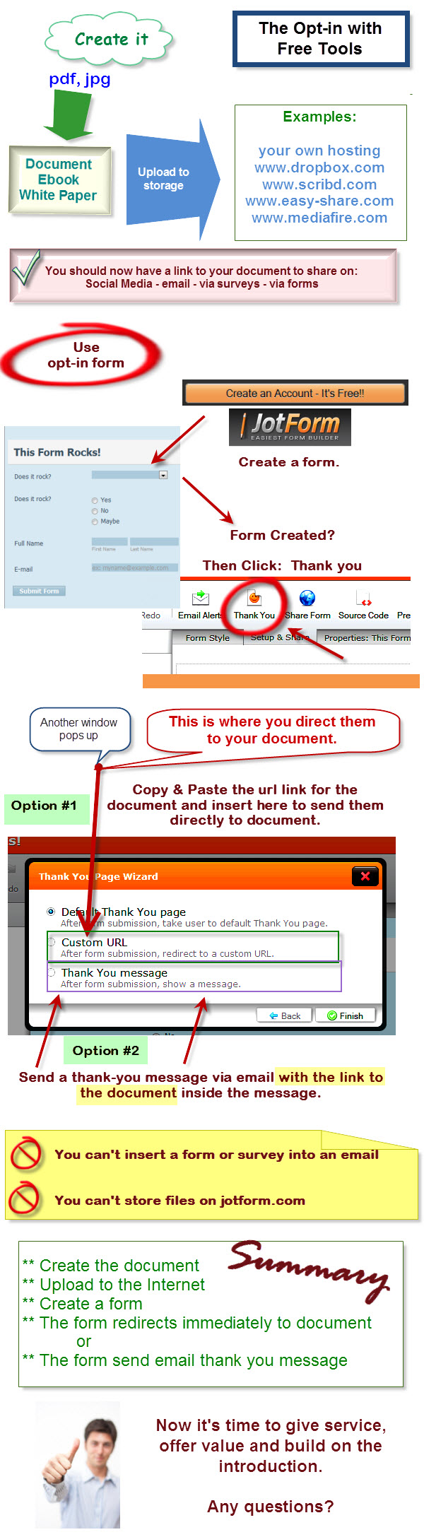 how to create a form for leads with optin