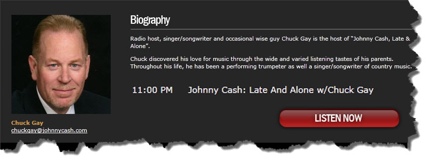 johnny cash radio chuck gay
