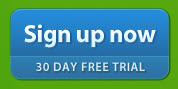 sign up now blue on green