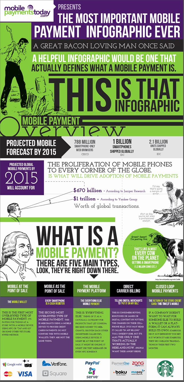 what is a mobile payment infographic