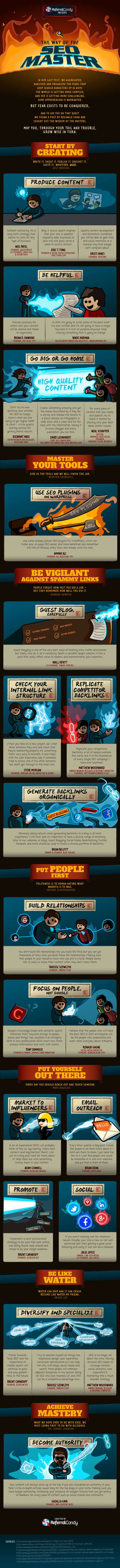 the way of the seo master infographic referral candy