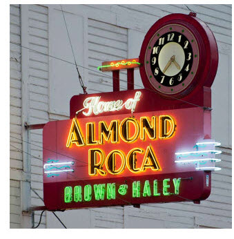 almond roca clock
