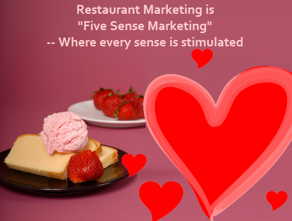 restaurant marketing five sense
