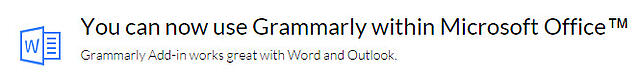 grammarly addon for word