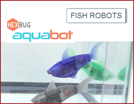 Daddoes real not live fish robots the aquabot video for Hex bugs fish