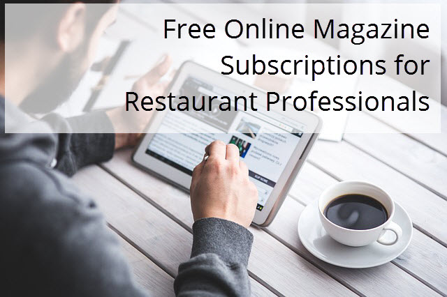 Free online magazine subscriptions for restaurant for Online magazine subscription services